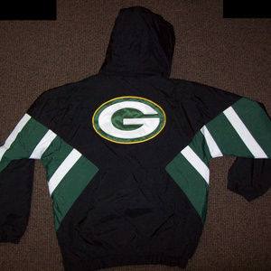GREEN BAY PACKERS STARTER Half Zip Hooded Jacket